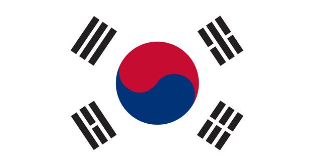 bandeira da Coreia do Sul.