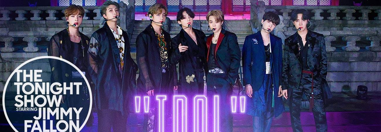 BTS presenta IDOL y Dynamite en la primera presentación de The Tonight Show Starring Jimmy Fallon