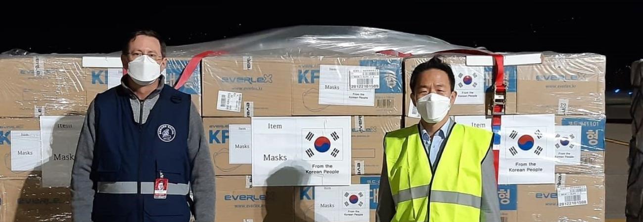 Corea del Sur dona más de 400.000 mascarillas a Costa Rica para prevenir el Covid-19
