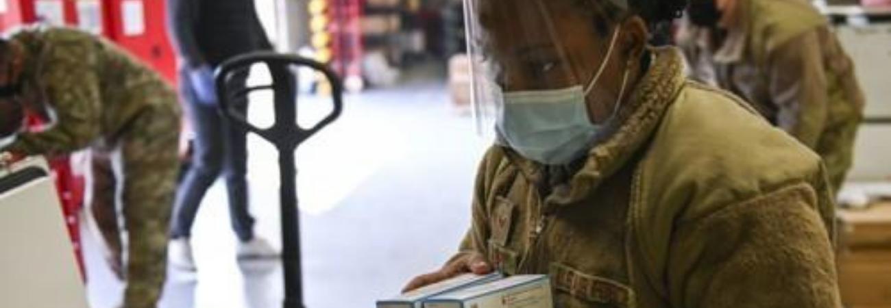 Los soldados surcoreanos agregados al Octavo Ejército de los EE. UU, recibiran las primeras vacunas