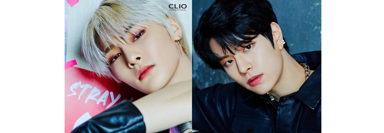 I.N y Seungmin de Stray Kids muestran su impresionante visual en nuevas fotos para CLIO