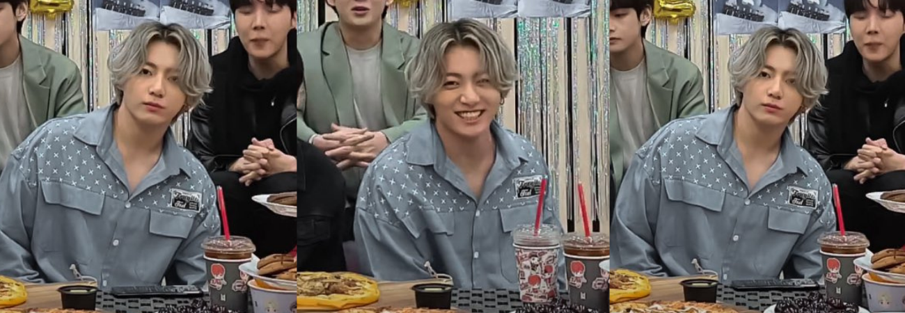 Jungkook de BTS es tendencia tras aparecer con el cabello platinado en V Live