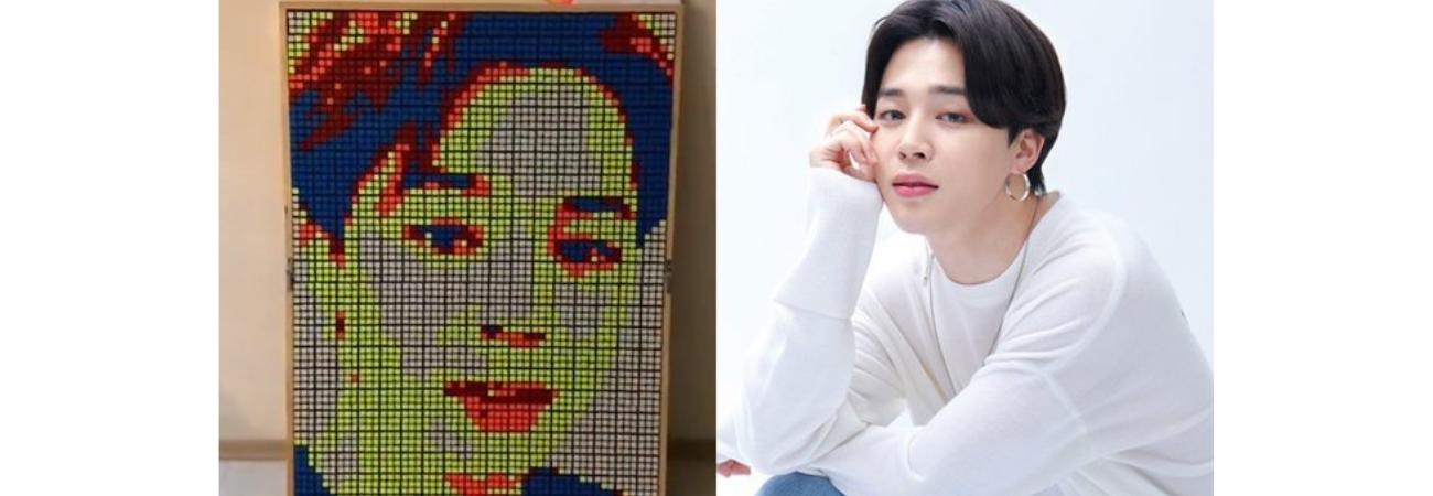 Fan recrea el rostro de Jimin de BTS con cientos de cubos Rubik ¡Es impresionante!