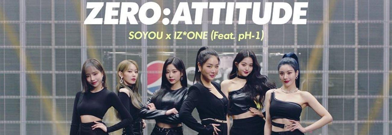 Soyou, pH-1 y IZ*ONE muestran teaser del MV para 'ZERO: ATTITUDE'