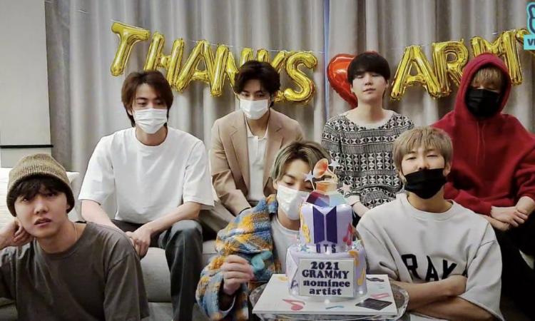 BTS anima a ARMY con hermosos mensajes después de no ganar en los GRAMMY