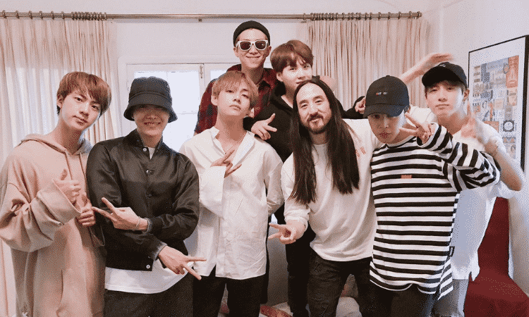 'Waste it on Me' de Steve Aoki y BTS supera los 200 M de reproducciones en Spotify