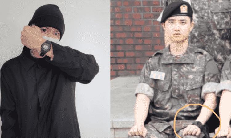 Chanyeol aparece usando el reloj de D.O antes de ingresar al ejército