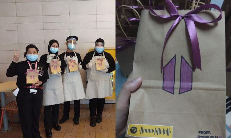 ARMY de Malasia prepararon bocadillos conmovedores para el personal de McDonald's mostrando su gratitud