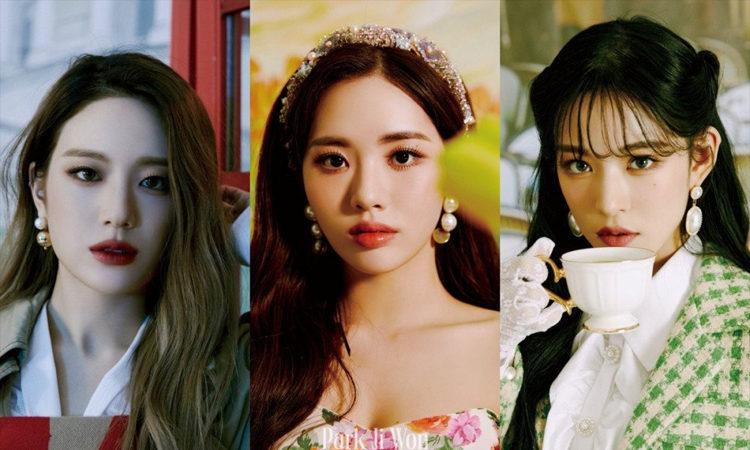 Gyuri, Jiwon y Chaeyoung de fromis_9 regresan a la epoca de los 80 en 9 Way Ticket
