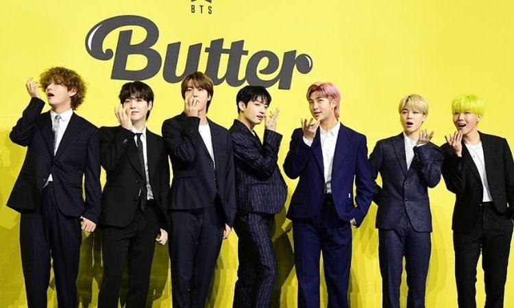 BTS en presentación de Butter a la prensa