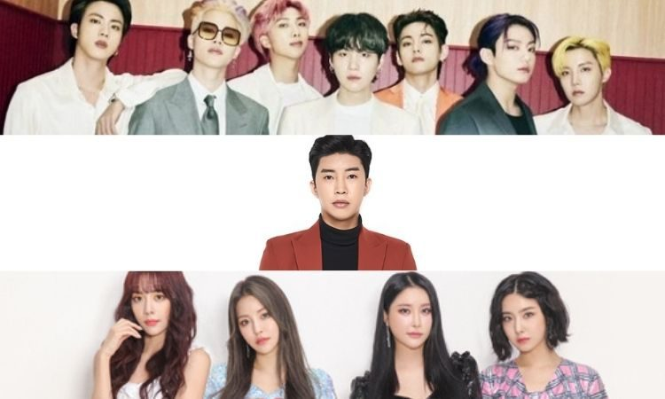 BTS, Lim Young Woong y Brave Girls