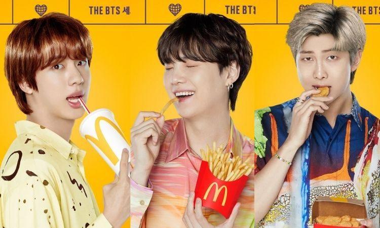 Jin. Suga y RM para BTS Meal de McDonald's