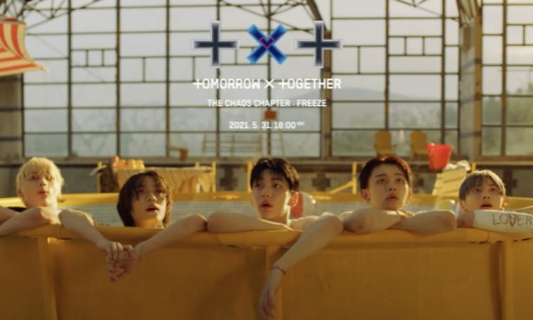 TXT juega en el agua en vídeo teaser para '0X1=LOVESONG (I Know I Love You) feat. Seori