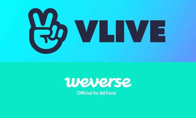 Logos de V Live y Weverse