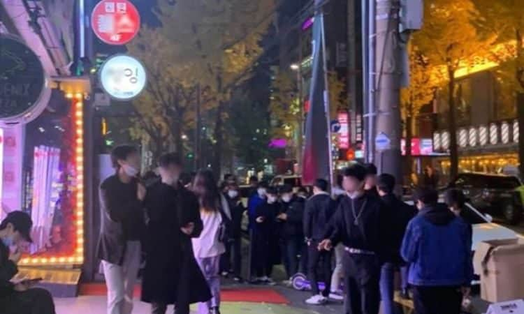 Calle en Hongdae en Seúl