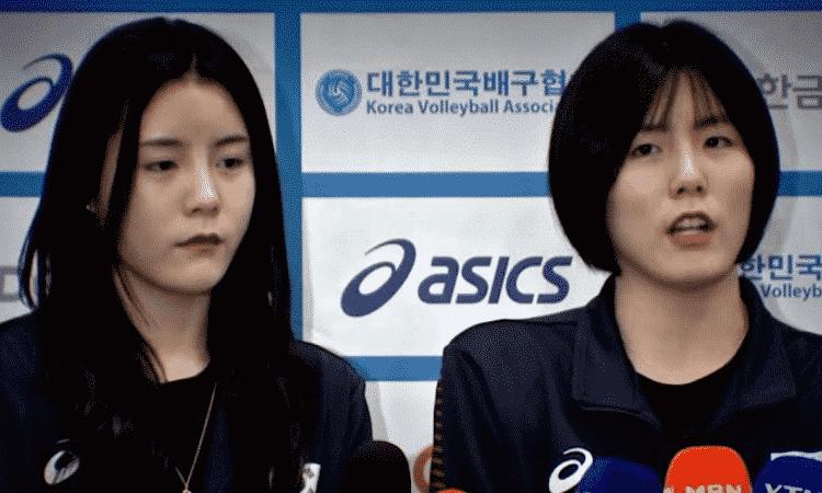 Jugadora de voleibolcoreana acusada de Bullyng acepta haber sostenido un cuchillo y maldecir a su compañera