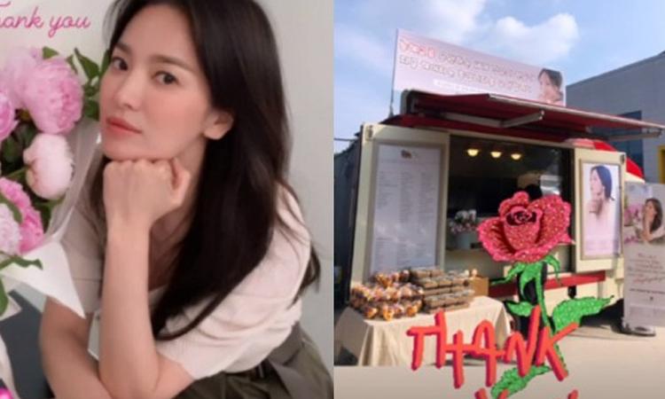 Fans internacionales envían un camión de café a Song Hye Kyo