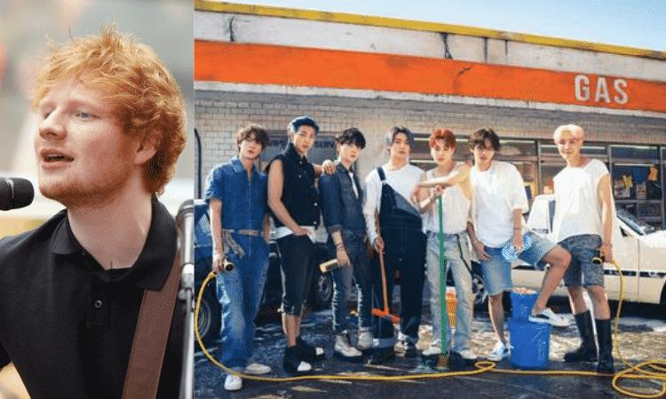 BTS y Ed Sheeran en su tema Permission to Dance